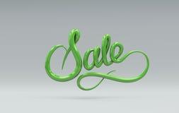 Venta rosada y amarilla Letras del vector 3D Fotografía de archivo libre de regalías