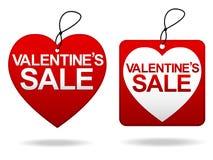 Venta Tage del día de tarjeta del día de San Valentín Fotografía de archivo libre de regalías