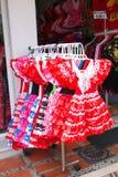 Venta tradicional de los niños del vestido del español Foto de archivo