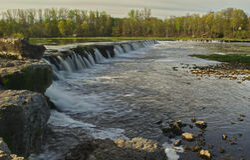 Venta waterfall in Kuldiga Stock Image