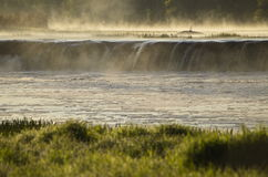 Venta waterfall in mist Stock Images