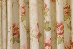 Ventage curtain or drapery background. And texture Stock Photos