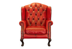 Ventage red armchair Stock Image