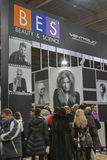 Ventaglio booth at Beauty and Vision Exhibition Royalty Free Stock Photo