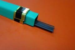 Ventaja del repuesto para el lápiz mecánico Imagen de archivo libre de regalías