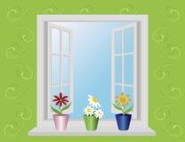 Ventana abierta libre illustration