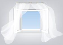 Ventana abierta ilustración del vector