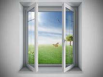 Ventana abierta Imagen de archivo libre de regalías