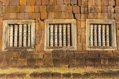 Ventana adornada en Angkor Wat Fotografía de archivo