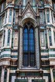 Ventana alta en Florence Duomo Cathedral Foto de archivo