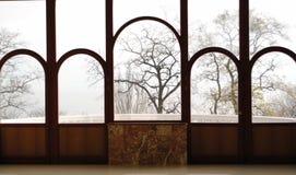 Ventana antigua colorida Foto de archivo libre de regalías