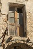 Ventana antigua en Rhodes Old Town Fotografía de archivo