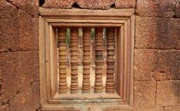 Ventana - arquitectura de la civilización del khmer Fotografía de archivo
