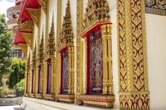 Ventana asiática del templo Imágenes de archivo libres de regalías