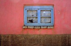Ventana azul Imagenes de archivo