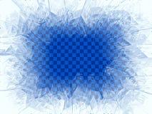Ventana azul transparente de la helada del vector ilustración del vector