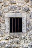 Ventana barrada de la prisión Fotografía de archivo