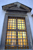 Ventana barrada vieja Fotografía de archivo