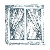 Ventana blanca Bosquejo del vector Fotos de archivo libres de regalías