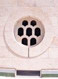 Ventana circular de piedra Foto de archivo libre de regalías