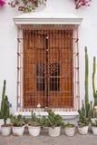 Ventana colonial en Lima, Perú Fotos de archivo libres de regalías