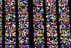 Ventana colorida en la catedral de Colonia Foto de archivo