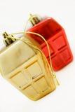 Ventana-como los ornamentos de la Navidad Imagenes de archivo
