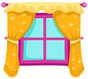 Ventana con las cortinas ilustración del vector
