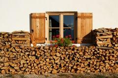 Ventana con madera Foto de archivo libre de regalías