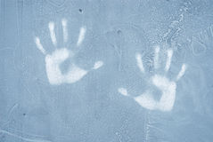 Ventana congelada Foto de archivo