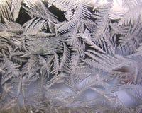Ventana congelada del invierno Imagenes de archivo