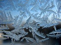 Ventana congelada del invierno Fotografía de archivo