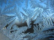 Ventana congelada del invierno Fotos de archivo