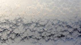 Ventana congelada Hielo sobre el vidrio Imagen de archivo