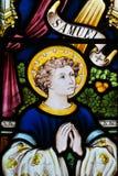 Ventana 2 ~ Cornualles de la iglesia de Cubert Foto de archivo libre de regalías