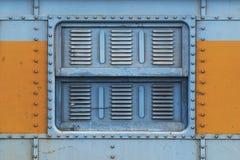 Ventana de acero del tren Foto de archivo libre de regalías