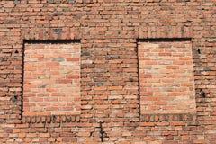 Ventana de Bricked Fotografía de archivo libre de regalías