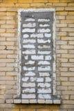 Ventana de Bricked imagenes de archivo