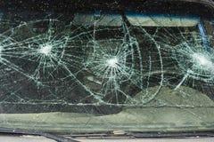 Ventana de coche quebrada Imágenes de archivo libres de regalías