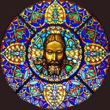 Ventana de cristal de colores 100 Fotografía de archivo
