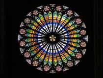 Ventana de cristal de colores Imagen de archivo libre de regalías