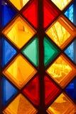 Ventana de cristal de colores Fotos de archivo libres de regalías