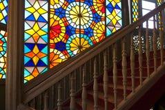 Ventana de cristal de colores. Fotos de archivo libres de regalías