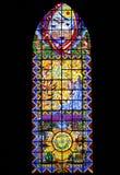 Ventana de cristal de colores Foto de archivo libre de regalías