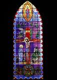 Ventana de cristal de colores Imagenes de archivo
