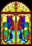 Ventana de cristal de colores Imagen de archivo