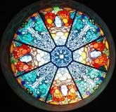 Ventana de cristal de colores Fotos de archivo