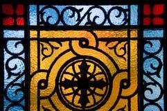 Ventana de cristal de colores imágenes de archivo libres de regalías