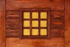 Ventana de cristal de colores decorativa amarilla Imagen de archivo