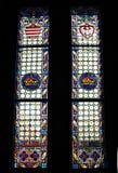 Ventana de cristal de colores gótica Fotografía de archivo libre de regalías